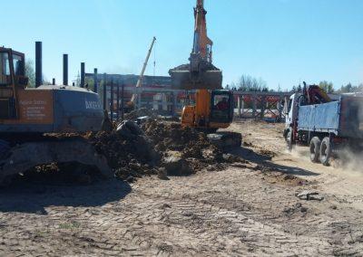 Palangos autobusų stoties ir prekybos centro (MAXIMA) statyba